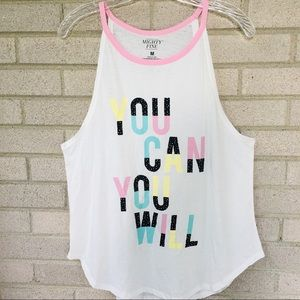 Mighty Fine You Can You Will Graphic Tunic Tank M